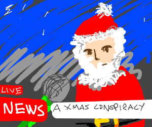 Santa Claus is live on television