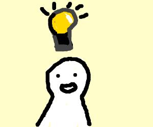 Man has an idea