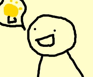 Asdf man gets bright idea
