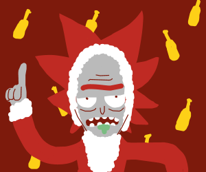 It's santa rick!!