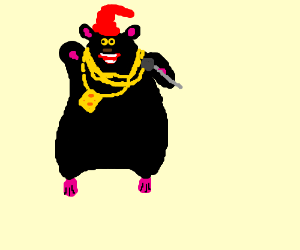 fat rat from back to the barnyard gangster rat drawing by