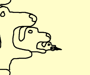 dog eating dog eating dog, etc...