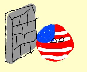 America builda wall around mex(cont polandball