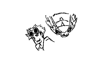 Guzma and his Golisopod (Pokémon)