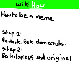 Wikihow - how to be a meme