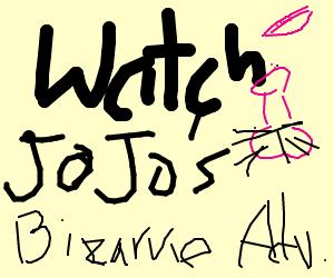 step 1 watch jojo s bizarre adventure drawing by castlecrashermc
