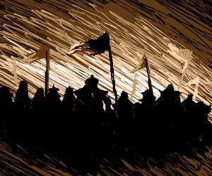 Mongols attack