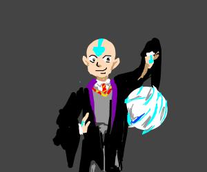 Aang as a wizard(hogwarts)