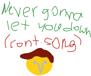 ...Never gonna give you up... ( cont. song )