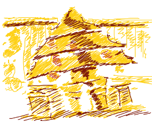 Yellmo as a Christmas Tree