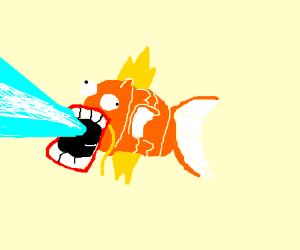 Magikarp fires his laser