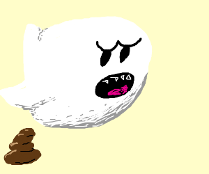 poopin ghost from mario