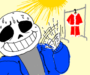 sans is too fat and hot to be santa