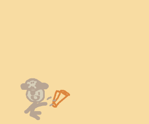 Baby pirate throws treasure map