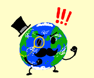 Gentleman Earth is ready for fistycuffs
