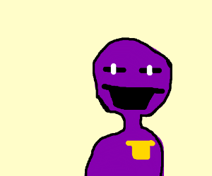 Purple Man Stare