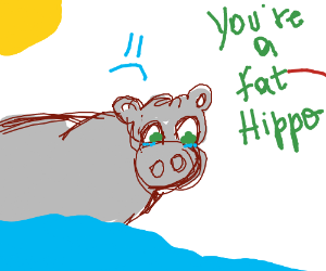 Hippo is fat