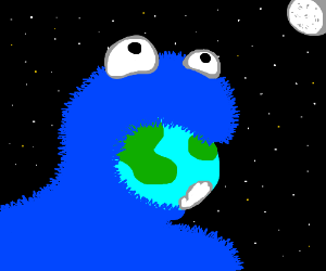 Cookie Monster ate the whole world