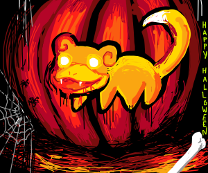 Slowpoke wishes you Happy Halloween!