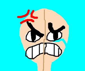 Man is both sad and angry at the same time