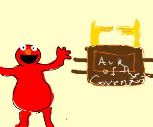 Elmo discovers the Ark of the Covenant
