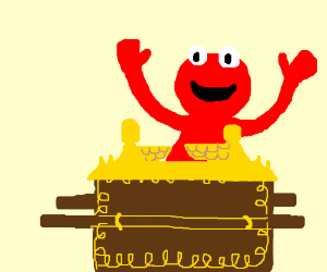Elmo finds the ark of the covenant