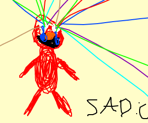 Elmo is crying lasers