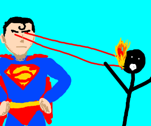 Superman vs Stickman