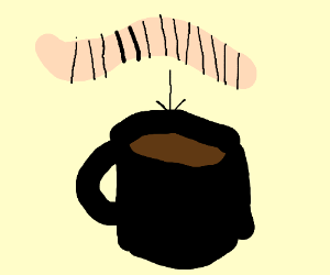Worm has become coffee