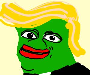 Donald Trump pepe (drawing by pixelScribbler)
