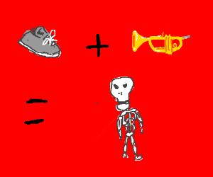 Sneaker + Trumpet = Skeleton