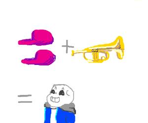 Shoe + trumpet = skeleton