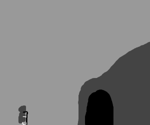 Grimm Reaper Staring at a Cave of Death