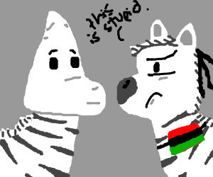 "A Zebra says ""Black+White Power!"""