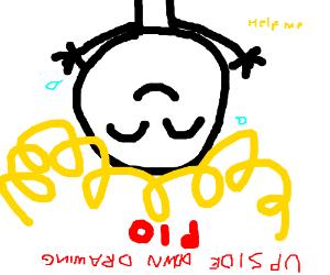 Upside down drawing PIO