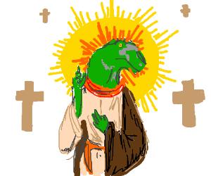 Velociraptor Jesus