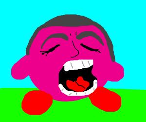 Kirby after inhaling Gilbert Gottfried.