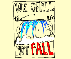 propaganda poster for a war at Niagra Falls