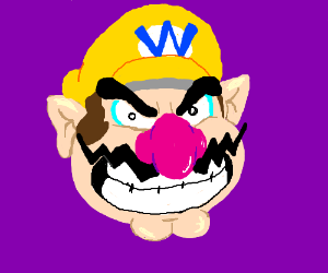 Wario's head, grinning