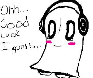napstablook listens to napster and wishes luck