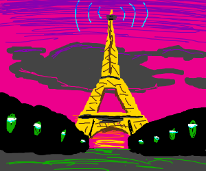 the Eiffel Tower is a cell tower