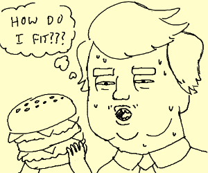 Donald Trump eats a Big Mac
