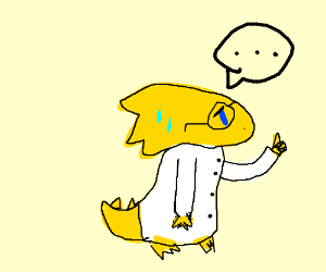 Alphys. (couldn't think of a creative caption.