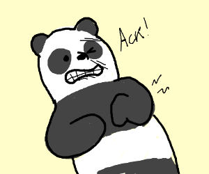 Panda From We Bare Bears Having A Stroke