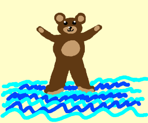 bear can walk on water
