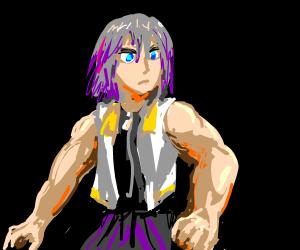 Buff Riku Drawception Buff riku refers to a fan illustration of the character riku from the video game series kingdom hearts drawn with enormous bulging muscles. buff riku drawception