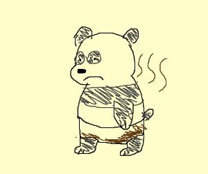 panda (we bare bears) pooped his diaper