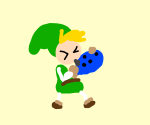 Link doesn't know how to use an ocarina