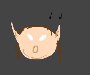 ELF SINGING A JOYUS TUNE