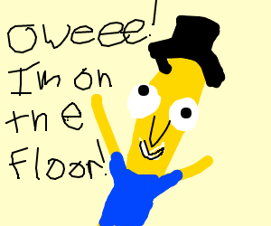 poopy on the floor